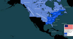 The United States of America, 1820 [Alt History] by Animadefensor