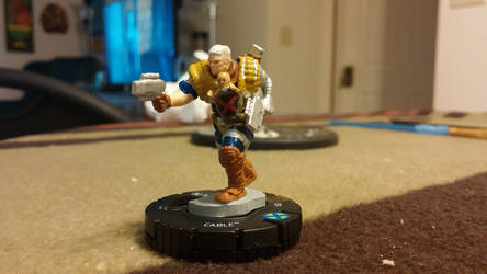 Custom Cable Heroclix featuring X-Snuggly by theAngelofRedemption