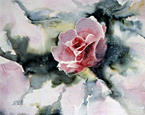 Pink Rose by paintedmonke