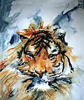 Tiger by paintedmonke