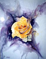 Yellow Rose by paintedmonke