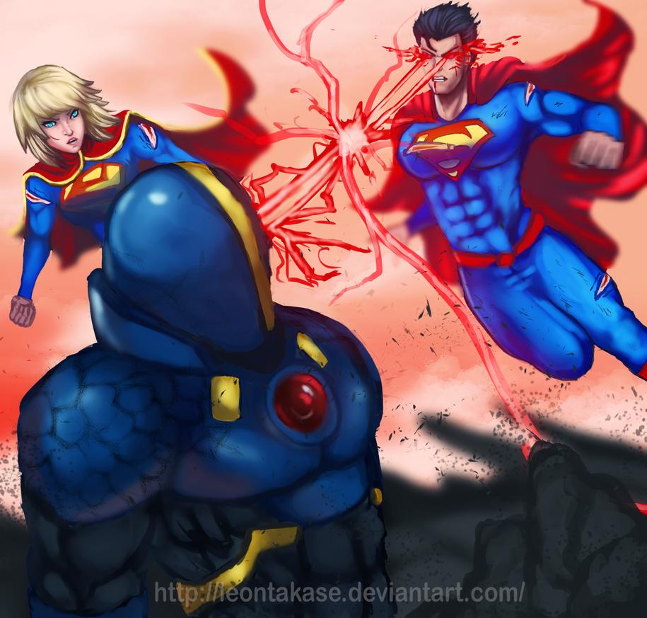 Kryptonians Vs Apocolypse by leontakase