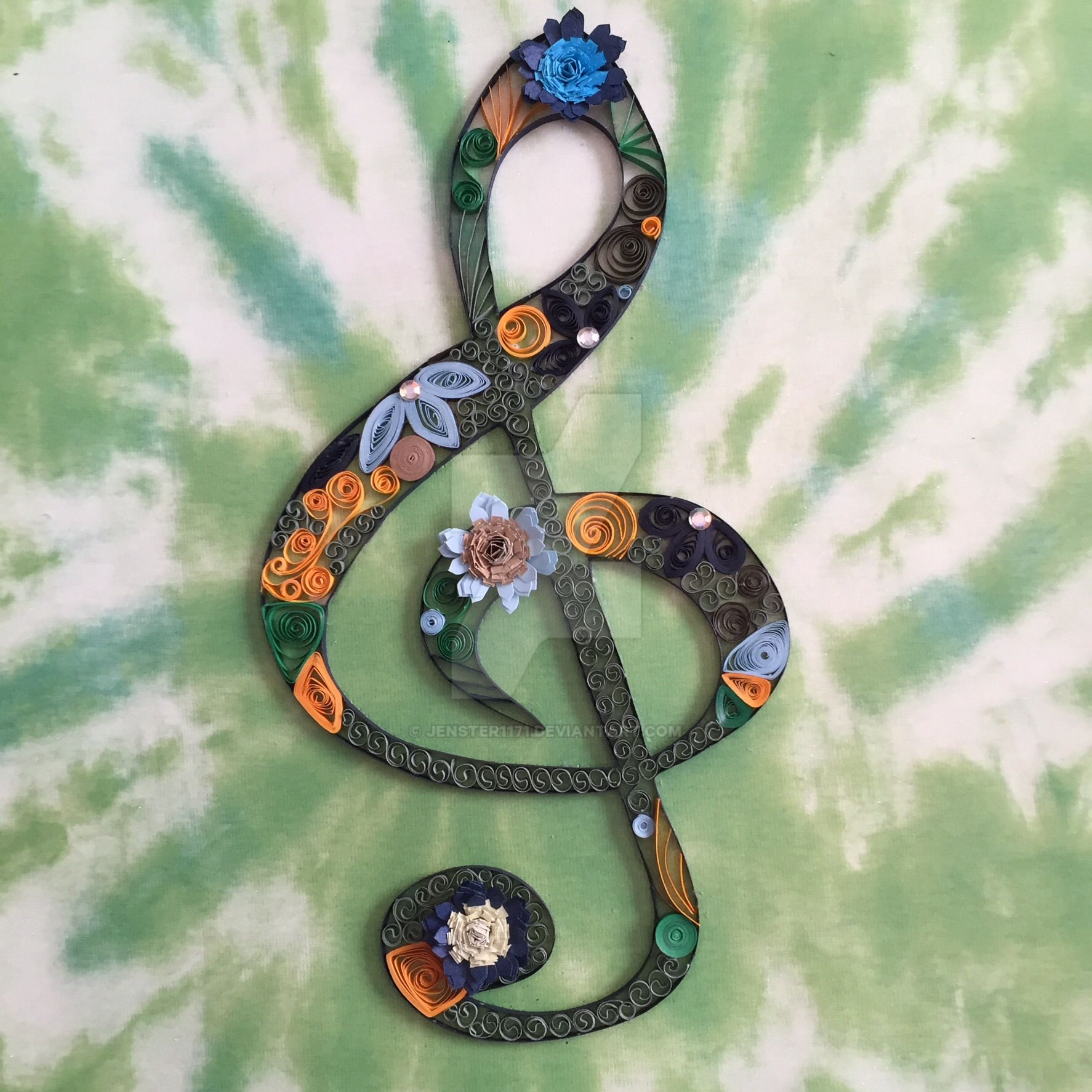 Quilled Treble Clef II by Jenster1171