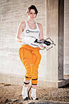 Chell Portal 2 cosplay