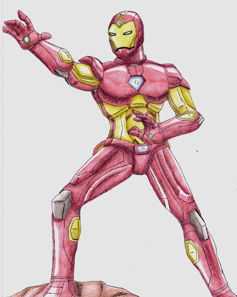 Iron Man - Modular Armor (Pencil) by Wyvern07 on DeviantArt