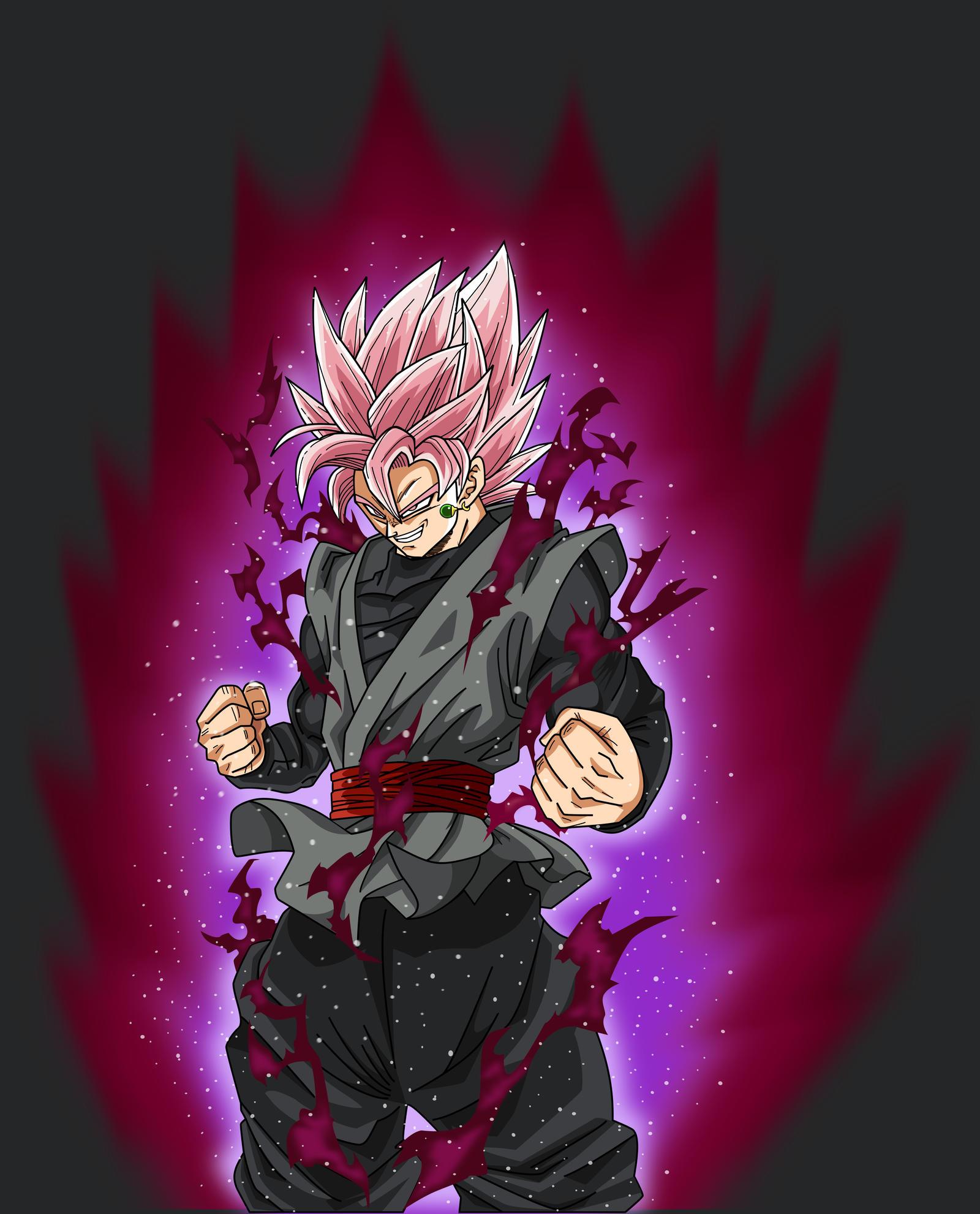 Super Saiya-jin Rose Black Goku Fan Art
