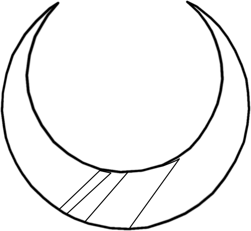 Line Drawing Moon : Crescent moon line drawing pixshark images