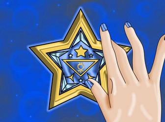 Mercury Senshi Tri Star Broach by Iggwilv