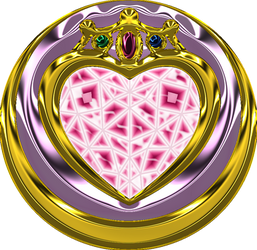 Chibi Moon Prism Heart Compact Broach by Iggwilv