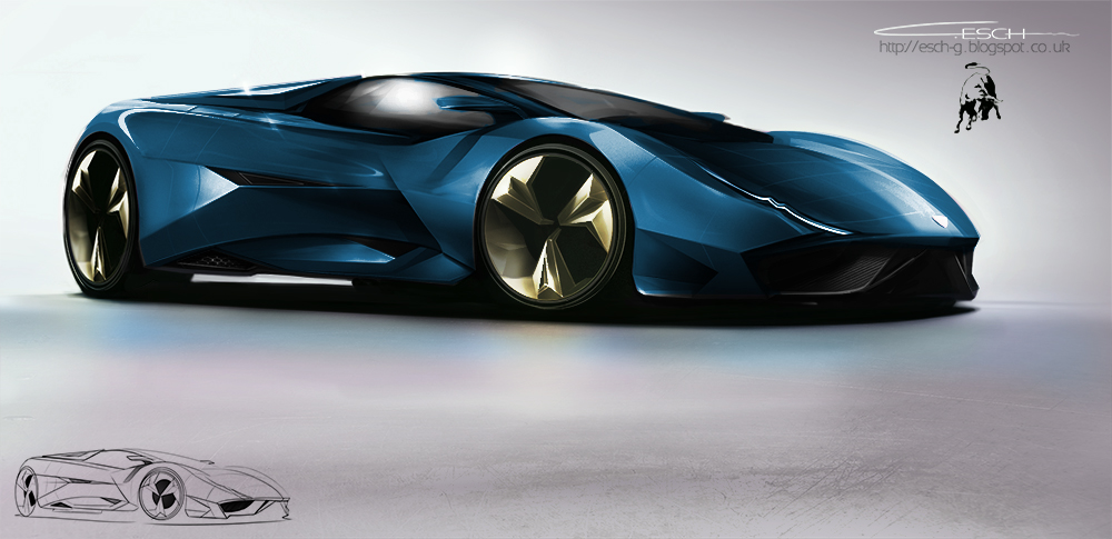 Lamborghini Concept Car By G Esch On Deviantart