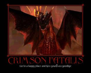 Crrimson fatalis Demotivator by Xyga