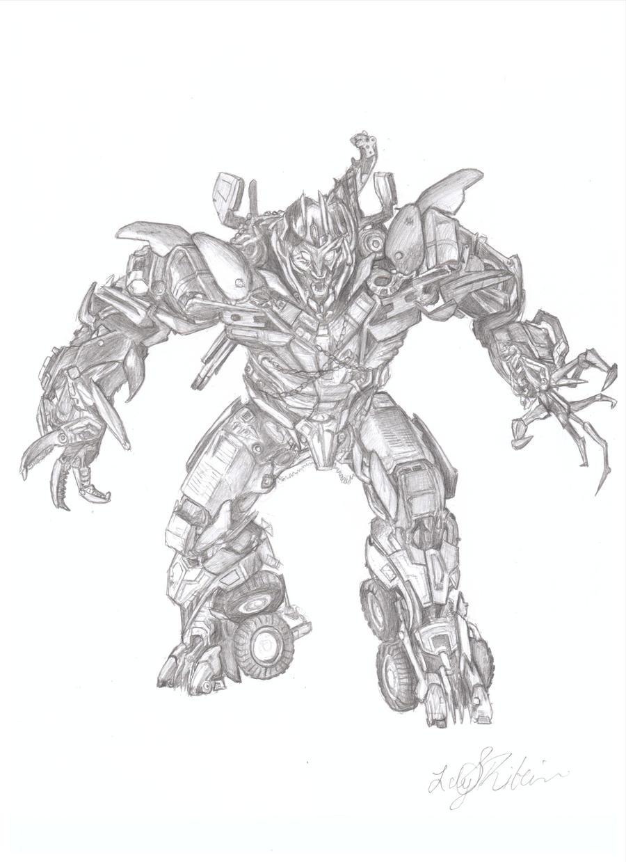 Megatron Pencil Drawing Raptarrin Deviantart