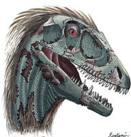 Zombie Deinonychus by raptarrin
