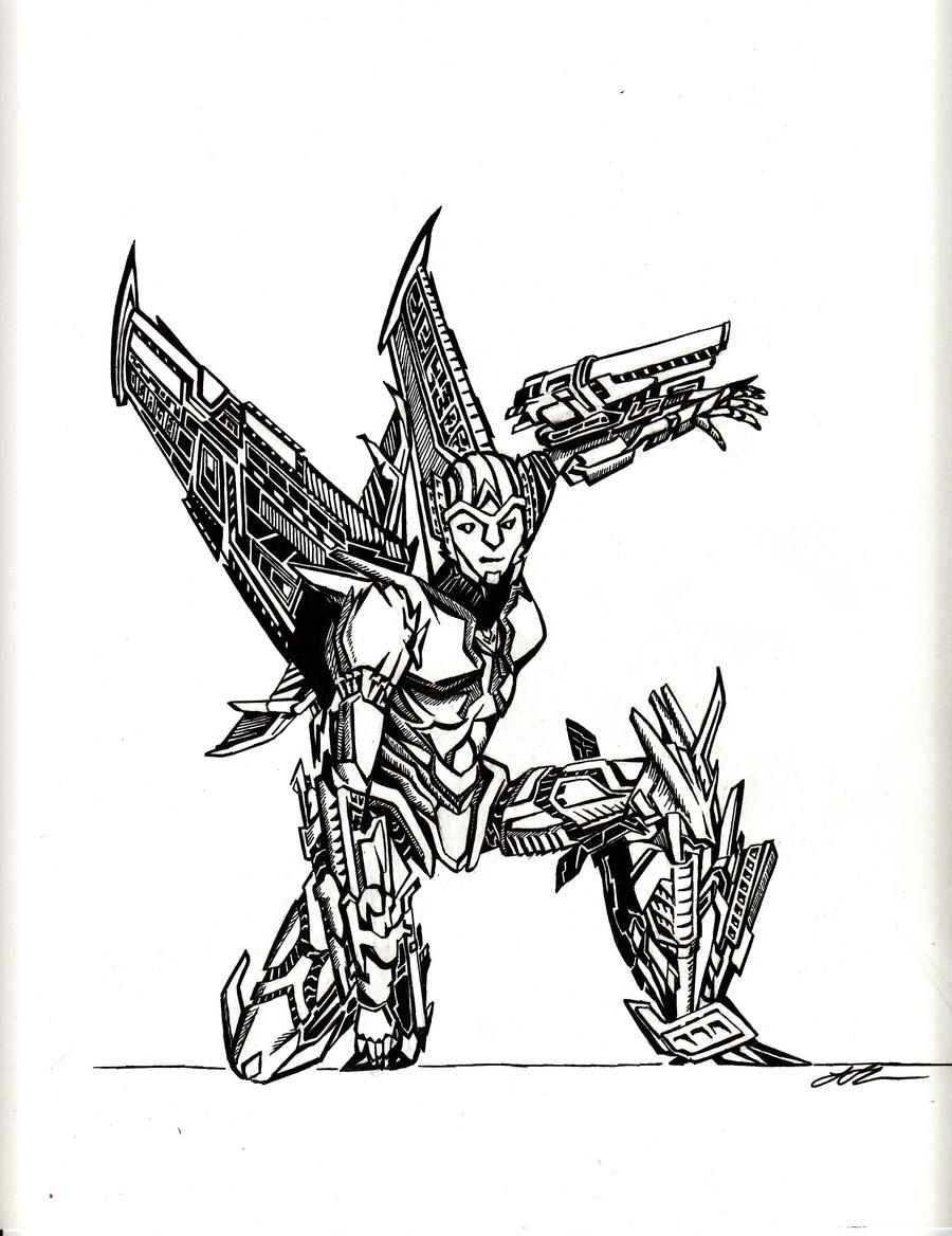 TF Prime Slipstream - Line Art by raptarrin