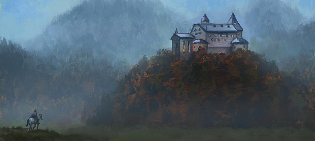 Forest Castle by Fleret