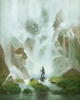 Ancient waterfalls blabla WIP by Fleret
