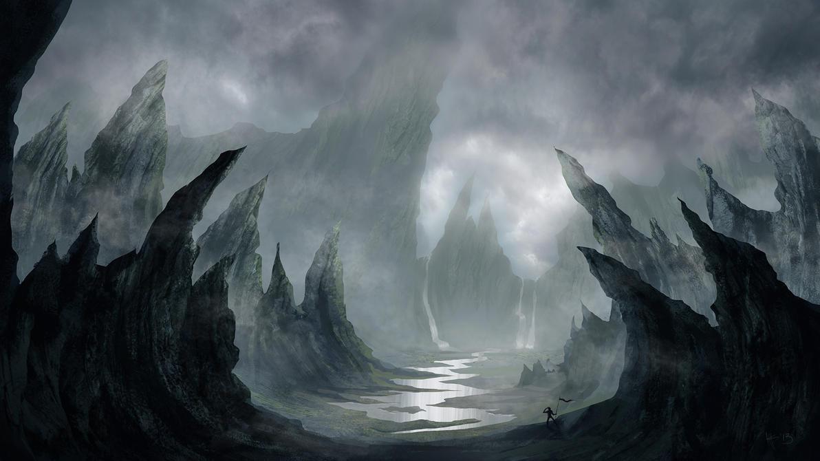 Barren Island Of Rock Concept Art