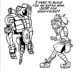 Gaige and DeathTrap by Digital-Banshee