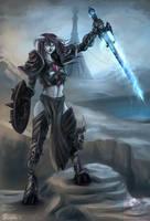 Draenei, Scourge Death Knight by vempirick
