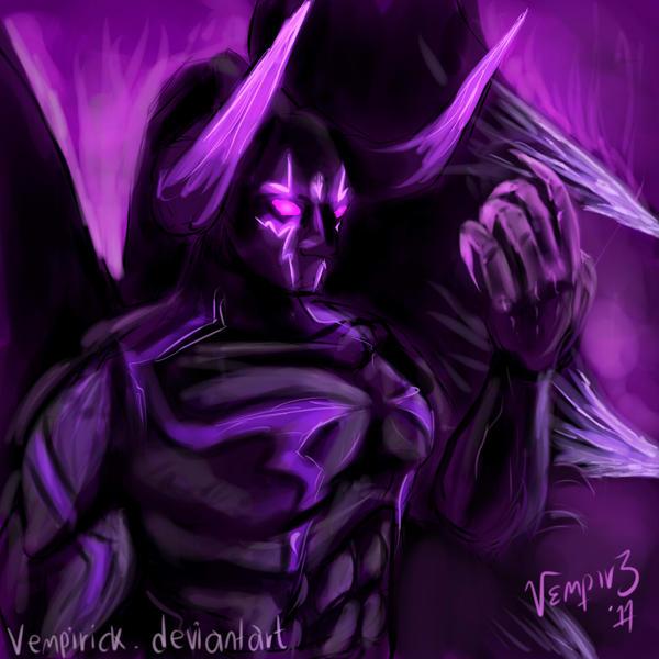 warlock, demon form sketch by vempirick on DeviantArt