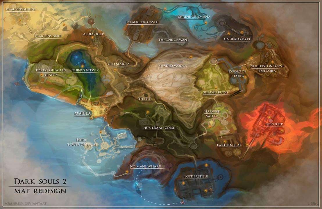 Dark Souls 2 map redesign by vempirick on DeviantArt on