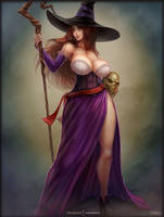 sorceress pinup