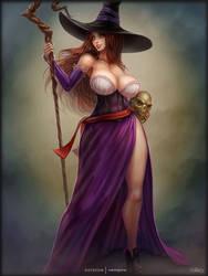 sorceress pinup by vempirick