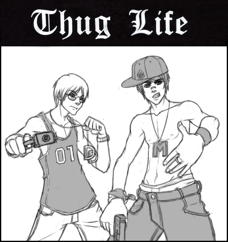 Thug Life Drawing Thug Life by Mchuggies