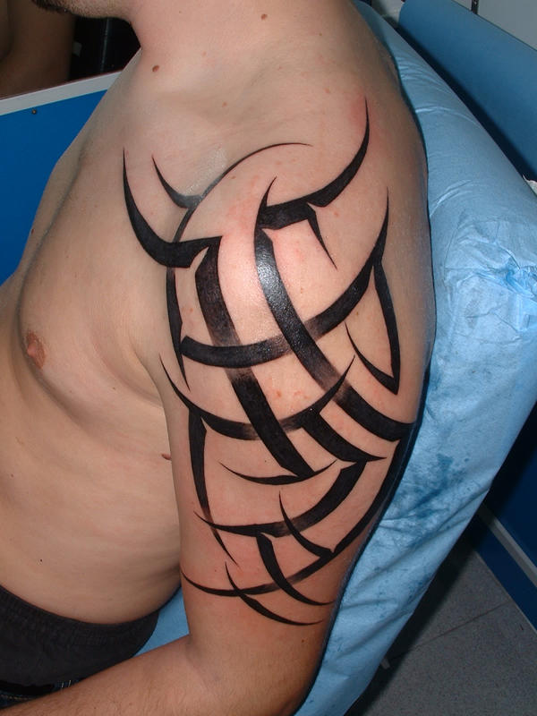 Tribal arm-shoulder 2 - shoulder tattoo