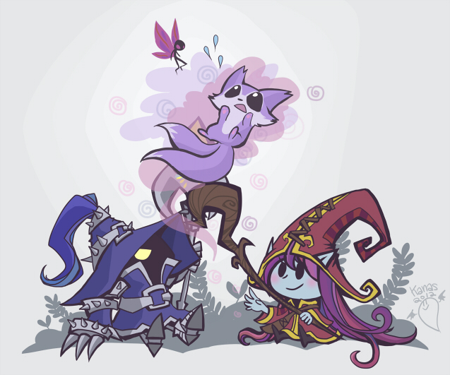 League of Legends: Little Mages by inkinesss
