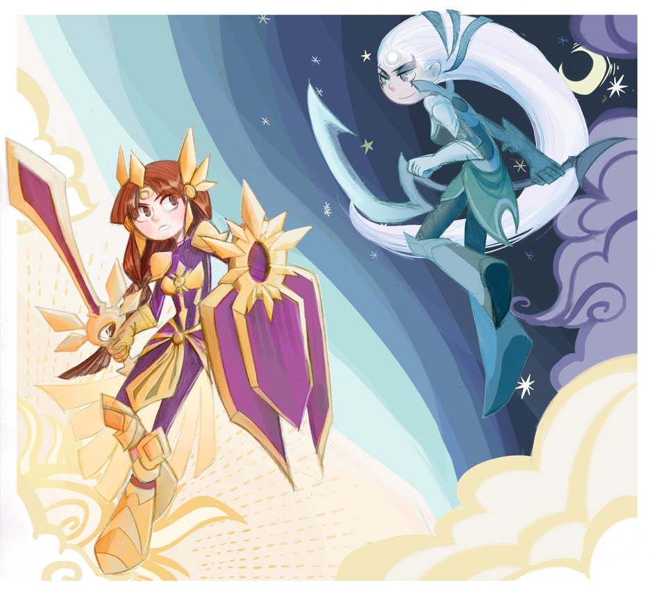 Imagens bacanas Diana_and_leona_by_inkinesss-d5gsrcc