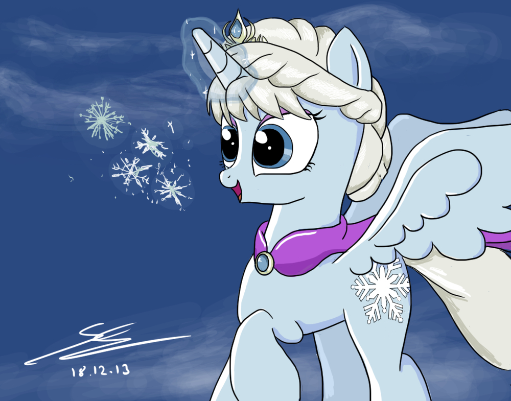 Frozen MLP Let It Go By EquestrianMarine