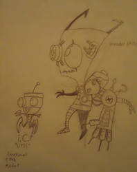 Invader zim OC by HardCoreCrocomire