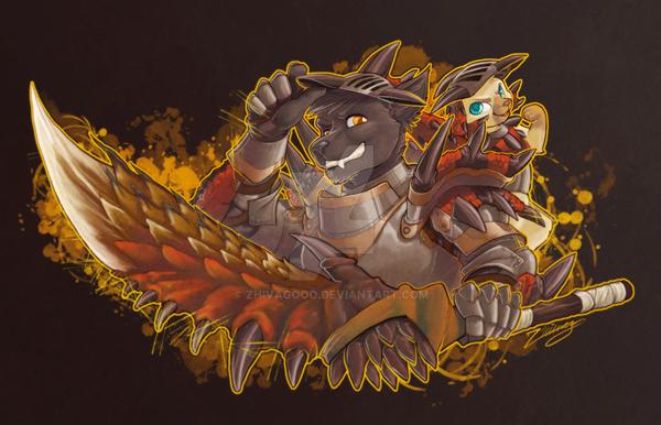 Visceral Monster Hunter Badge by zhivagooo