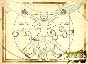 Vitruvian Mammal (New Free Ref Sheet Files!) by zhivagooo