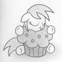 Filly Derpy with a muffin by Agamnentzar