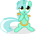 Music Lesson - Vector of Filly Lyra