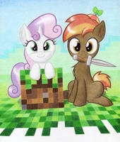 Sweetie and Button by Agamnentzar
