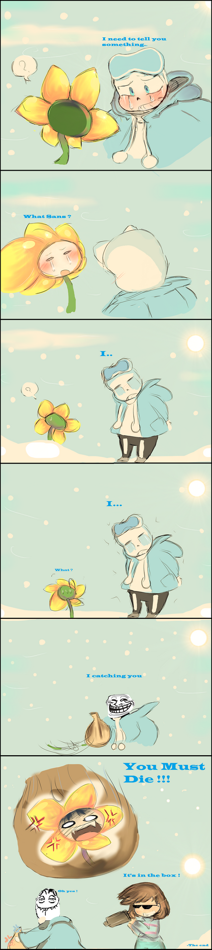 UNDERBLAZE- Flower.. (Comic) GLASSY!Sans by IkiYukikaze