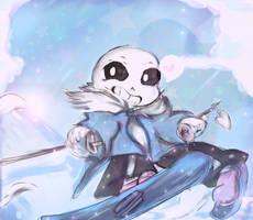 Sans - The skiing star. by IkiYukikaze