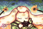 Asriel play the ocarina in the meadow !