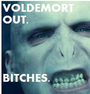 Voldemort out. Bitches. by Chipmunki
