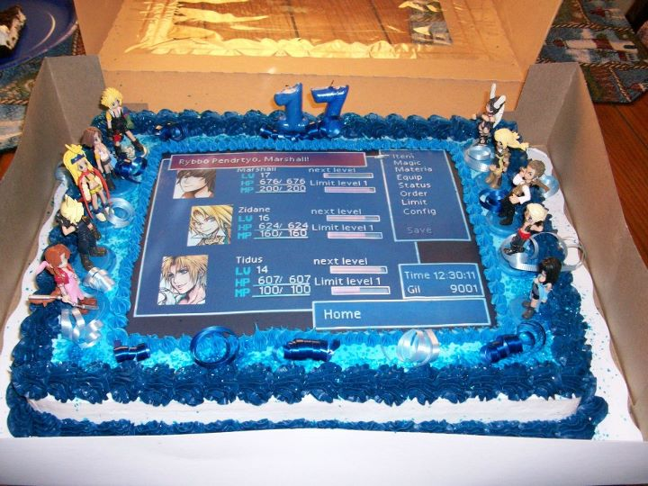 Final Fantasy Birthday Cake 5 by ChaoticBlossoms