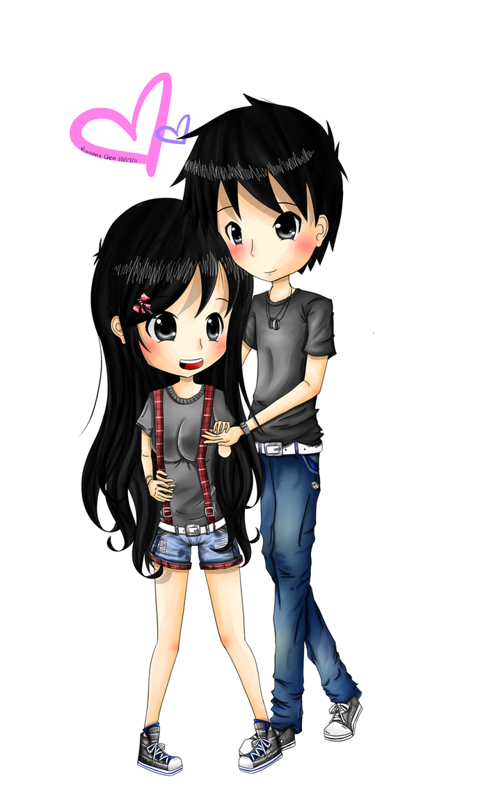 anime couple  shy first love by lemonypiexd on deviantart