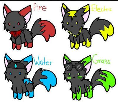 4 kitties by StarmTheDarkcat
