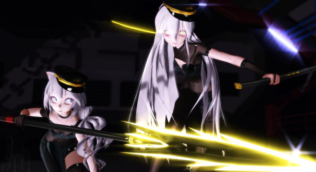 MMD Picture | Dual Swordsmen - Haku X Miku by NearDTH
