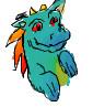 Yet another rainbow dragon by djdragondude