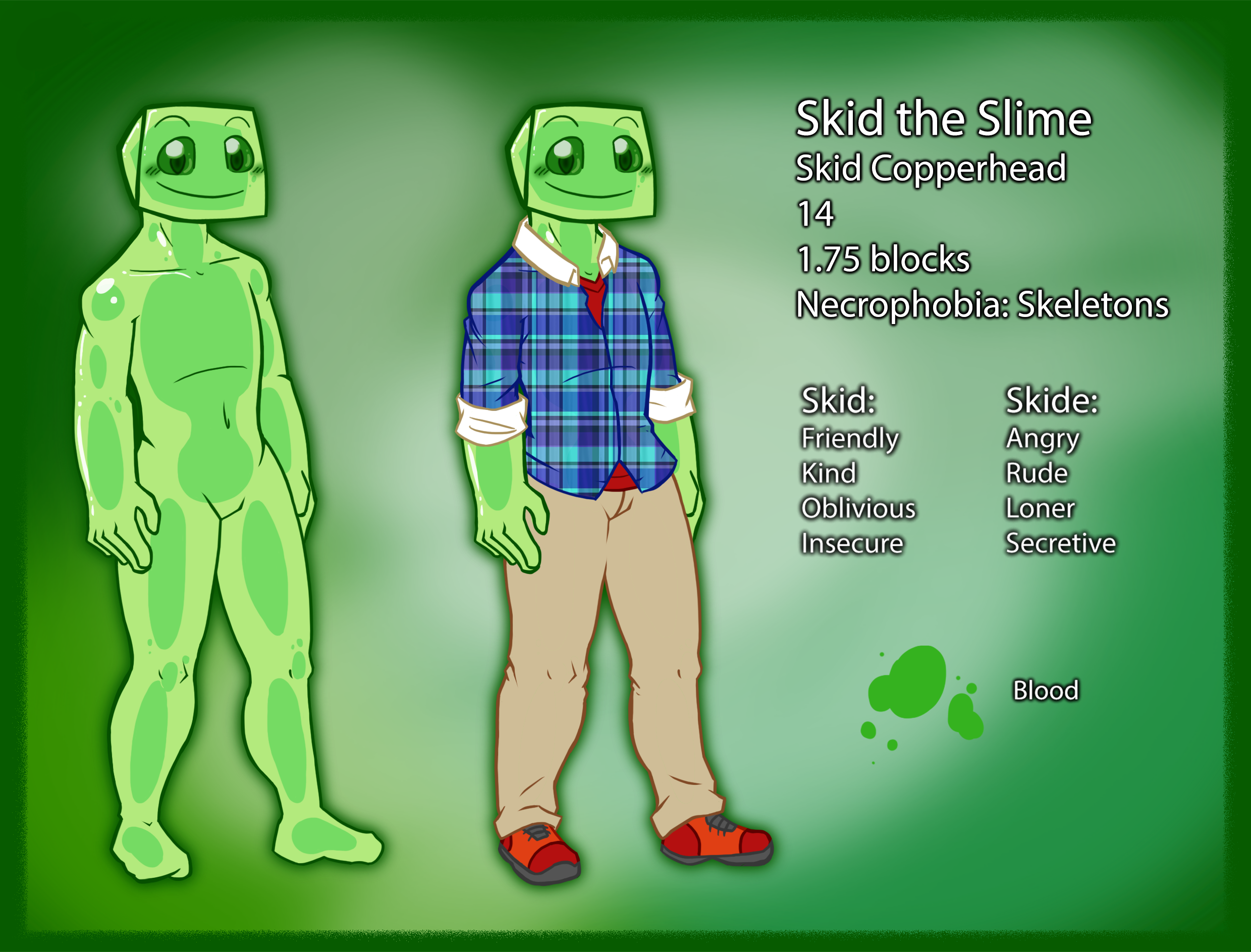 Skid the slime Ref sheet by PokeFusionMaster