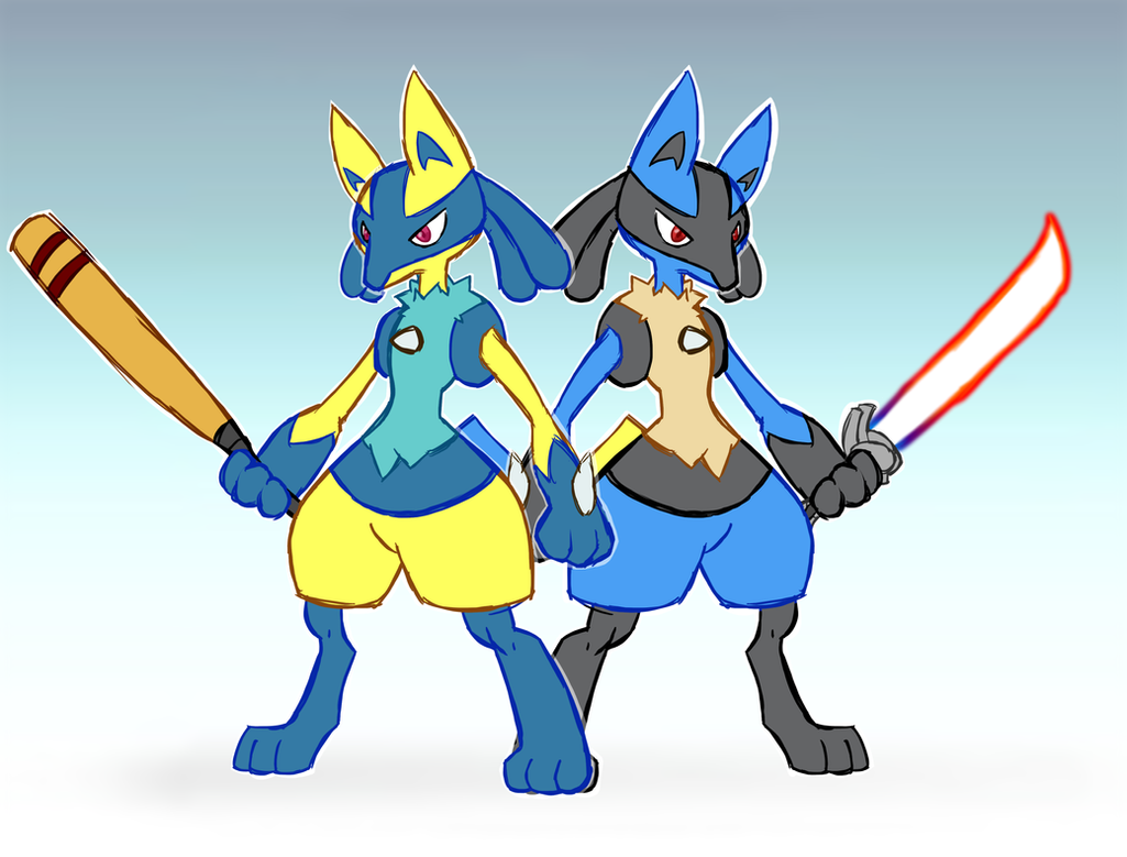 Lucario Bros by PokeFusionMaster