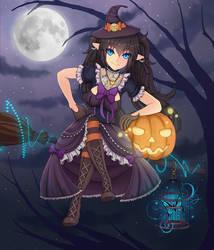 Halloween girl Kaylana (trade#4) by Tat-bunny